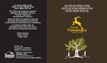 Etiqueta de l'oli per a la Cursa Panxampla